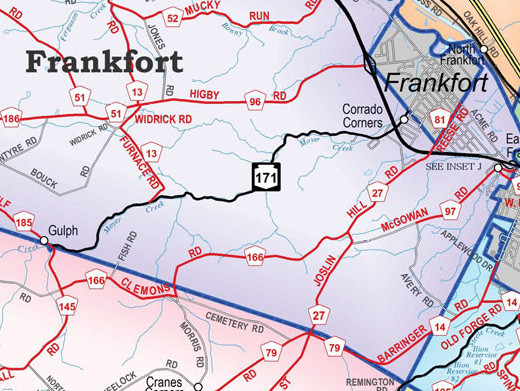 Map image of Village of Frankfort